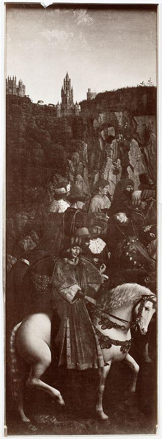 Rechtvaardige rechters origineel (overschilderd)