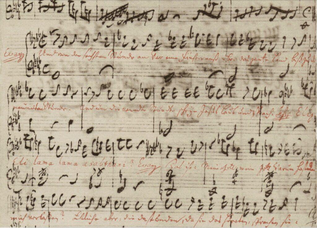 Matthäus-Passion partituur