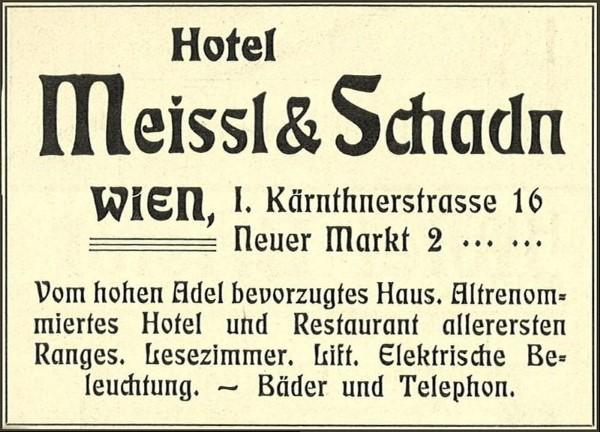 Hotel Meissl & Schadn (1906)