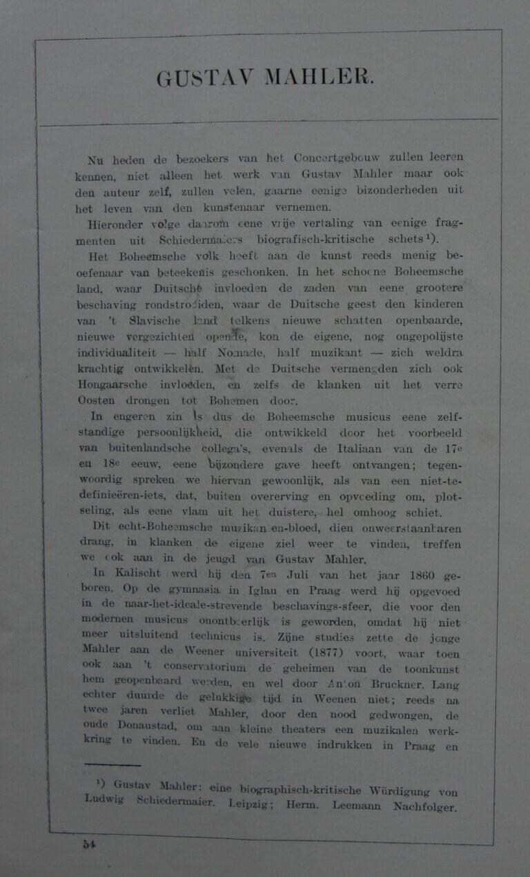 Programmaboekje 1903