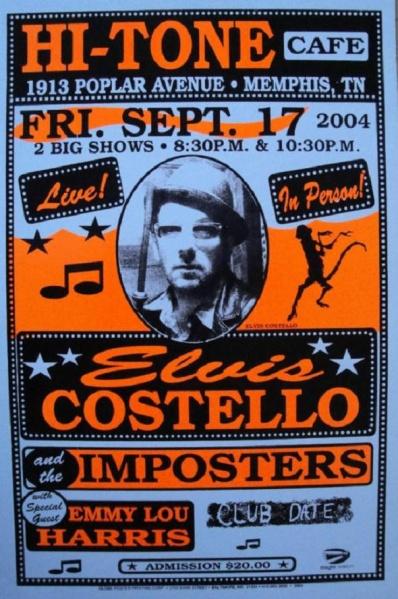 Elvis Costello 17 september 2004 Memphis