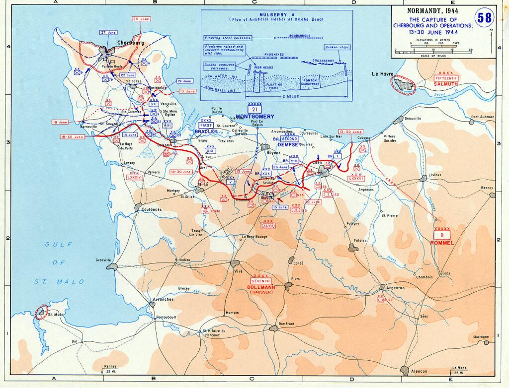 Situatie 13 tot 30 juni 1944