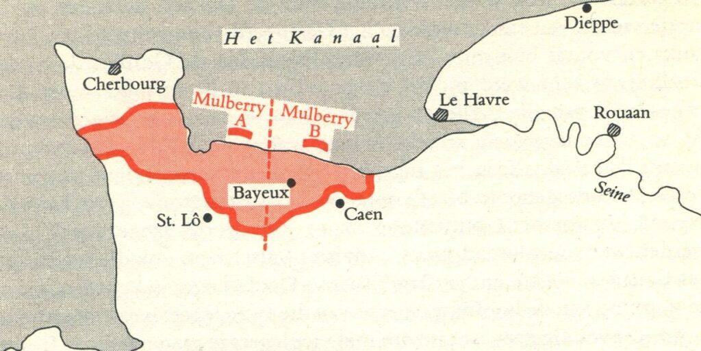 Situatie op 17 juni 1944