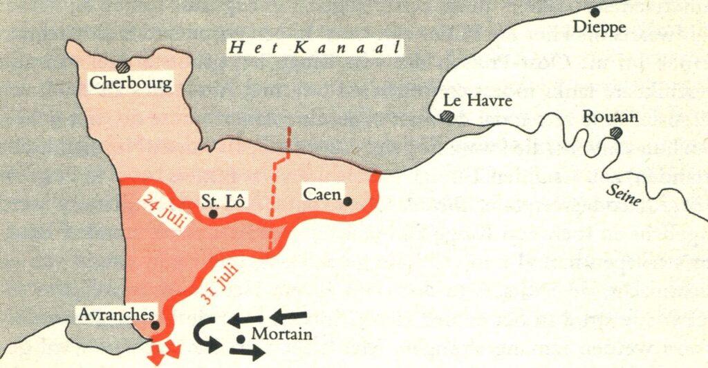 Situatie tussen 24 en 31 juli 1944