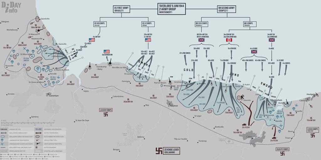 Situatie op 6 juni 1944