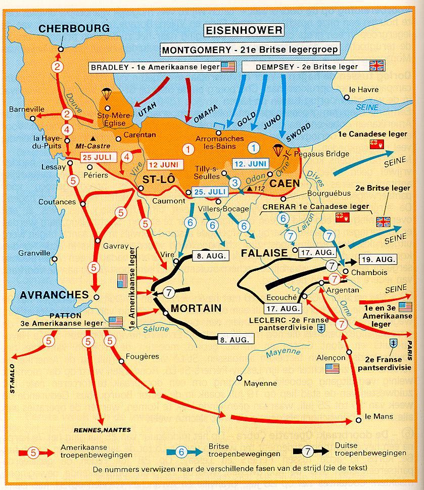 Situatie op 19 augustus 1944