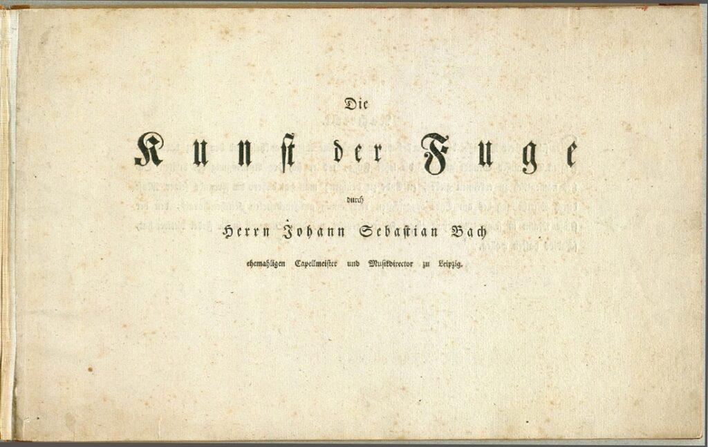 Die Kunst der Fuge eerste druk 1751