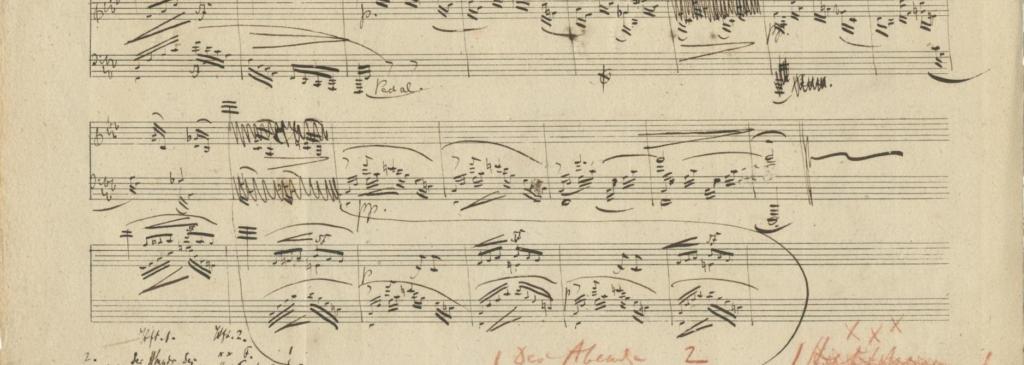 Robert Schumann partituur